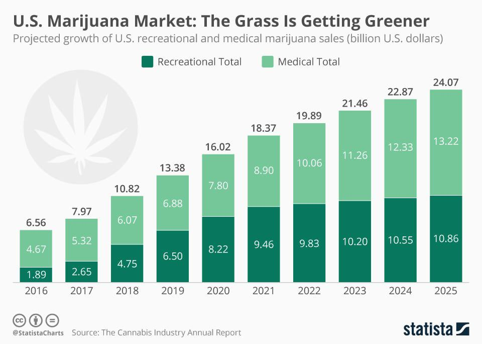 cannabis stocks growth chart