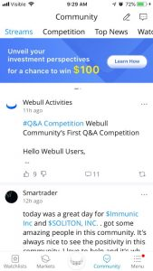 WeBull Review Community