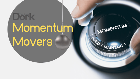 momentum movers active stocks