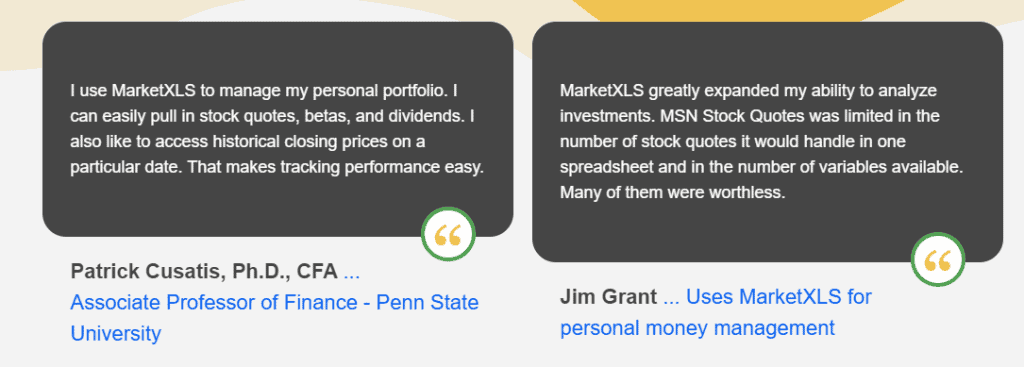 marketxls reviews by members