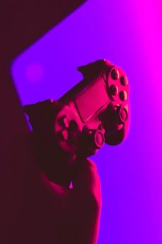 blacklit video game controller