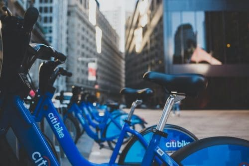 Citi bikes in New York