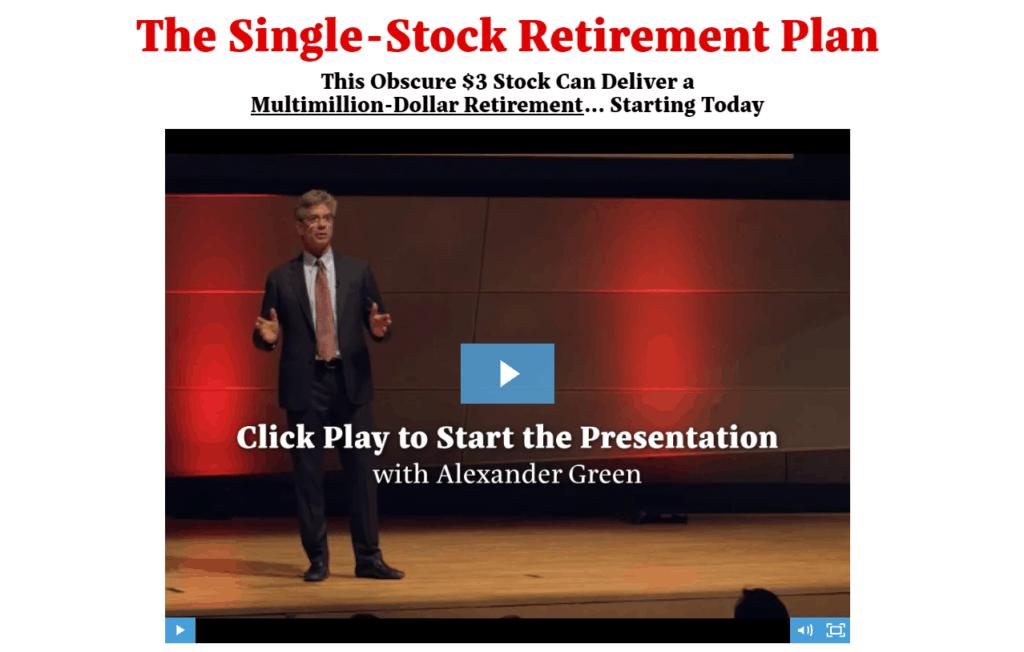single stock retirement plan review