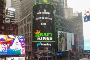 draftkings logo in times square