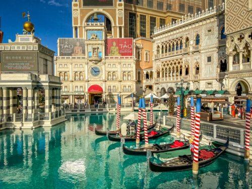 gondolas at the venetian las vegas