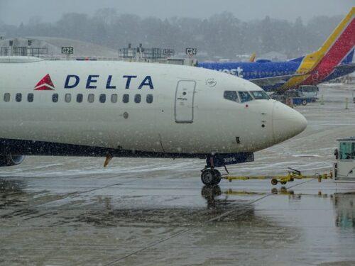 Delta plane in the snow