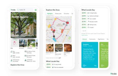 Trulia app screenshot