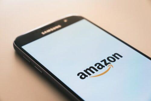 Amazon logo on a phone