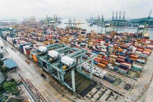 cargo port in Singapore
