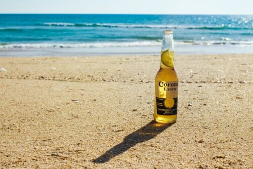 Corona beer on the beach