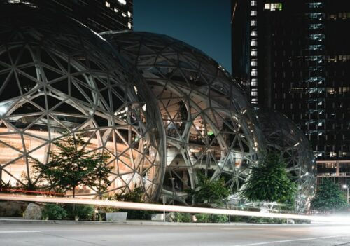 Amazon spheres in downtown Seattle