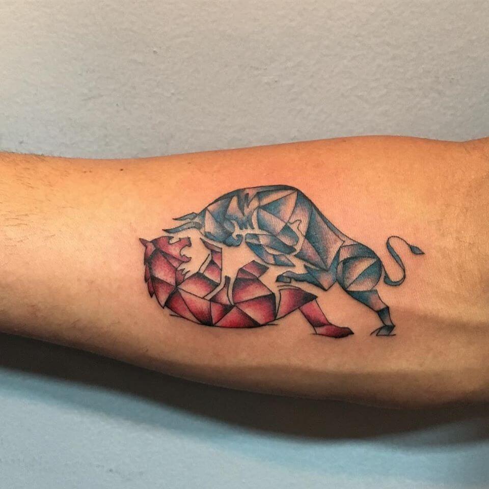 bull bear tattoo stock market