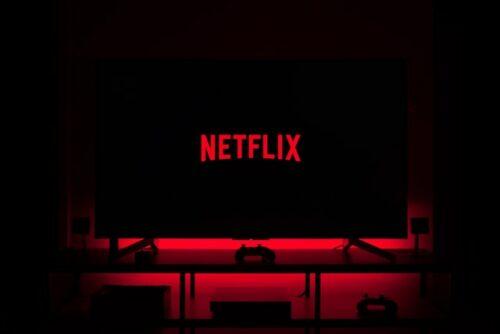 Netflix logo on TV