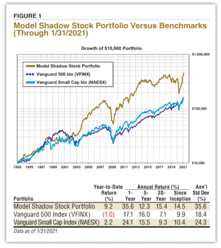 Shadow stock portfolio