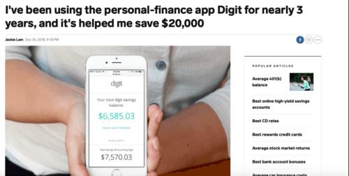 Digit savings