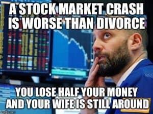 stock market crash divorce meme