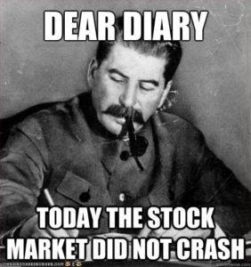 stock market crash meme