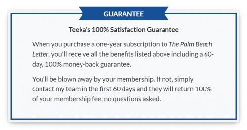 palm beach letter guarantee