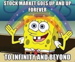 stock market meme goes up