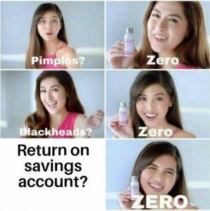return on savings account meme