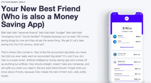 Cleo saving app