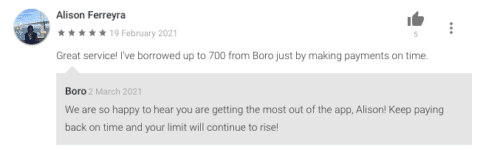 Boro reviews