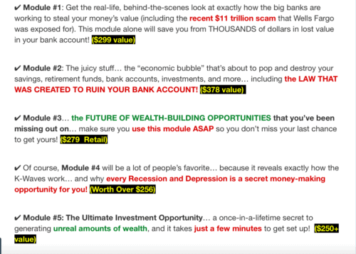 Recession Profit Secrets Modules