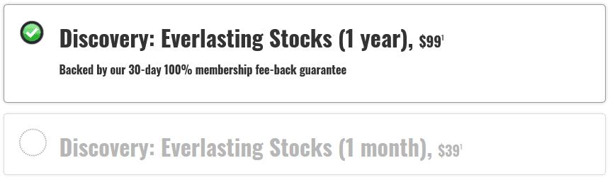 everlasting portfolio price review