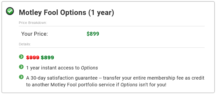 motley fool options price review