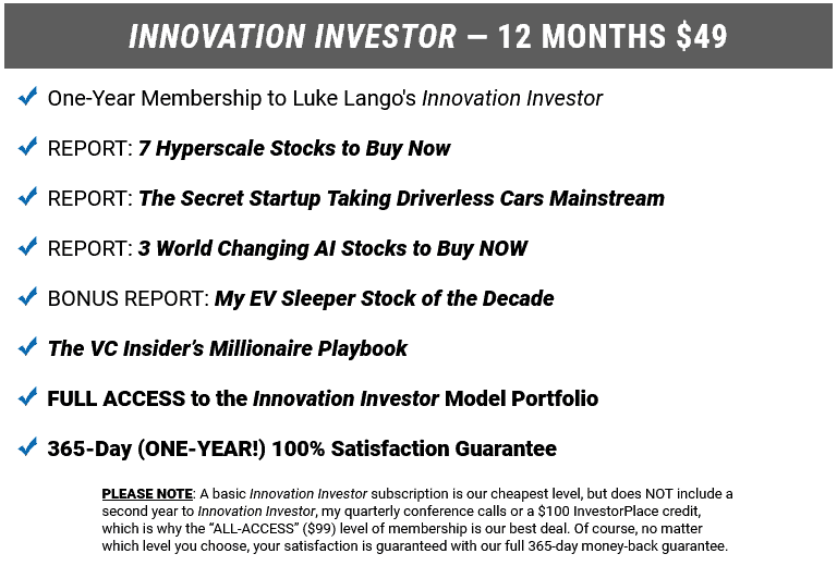 innovation investor cost review