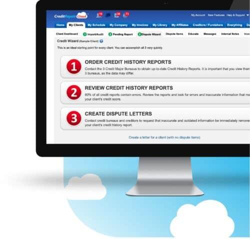 Credit repair Cloud tools