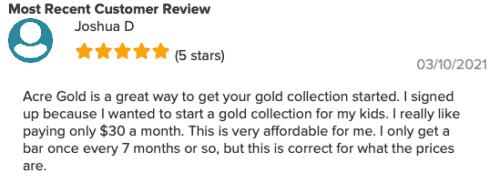 Acre Gold Reviews
