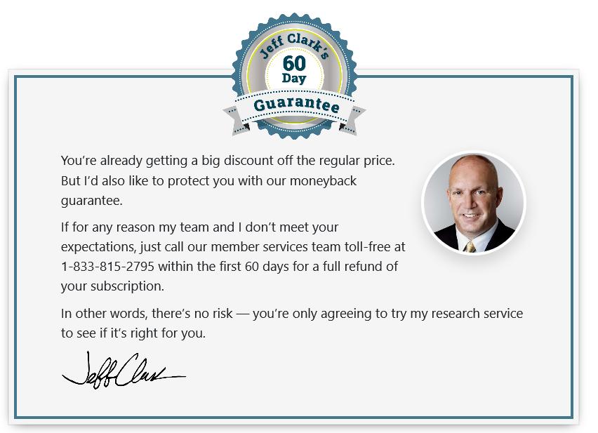 jeff clark trader guarantee
