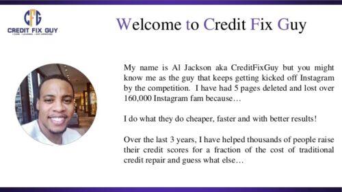 Credit Fix Guy Review: A.M. Jackson