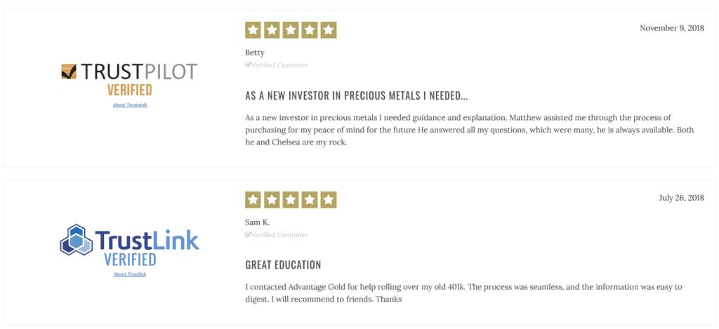 advantage gold customer reviews