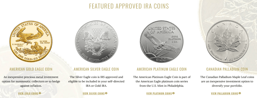 advantage gold ira approved coins