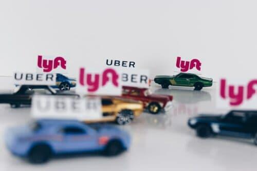 Uber and Lyft cars