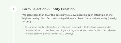 AcreTrader Review farm selection