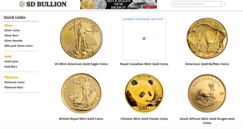 SD Bullion Review Gold coins