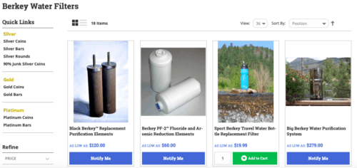 SD Bullion review: Water filters