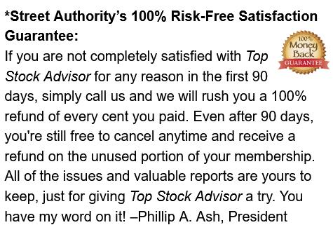 streetauthority top stock advisor review guarantee